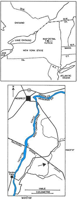 Rudkin and Tripp (1989)_Map of Trenton Gorge and Walcott-Rust Quarry